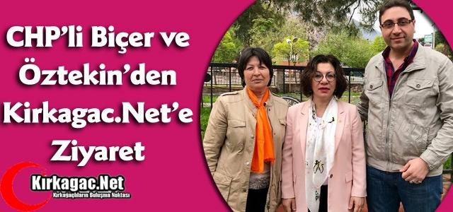 CHP'Lİ BİÇER'DEN KİRKAGAC.NET'E ZİYARET