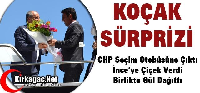 CHP'Lİ İNCE'YE KIRKAĞAÇ'TA 'KOÇAK' SÜRPRİZİ