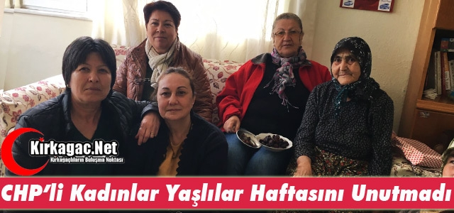 CHP'Lİ KADINLARDAN 'YAŞLILAR HAFTASI' ZİYARETİ