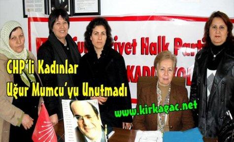 CHP'li Kadınlar,Uğur Mumcu'yu Unutmadı