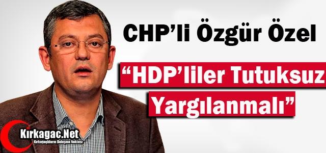 CHP'Lİ ÖZEL 'HDP'LİLER TUTUKSUZ YARGILANMALI'