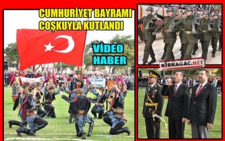 CUMHURİYET BAYRAMI COŞKUYLA KUTLANDI(VİDEO)