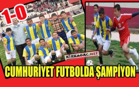 CUMHURİYET FUTBOL DA ŞAMPİYON 1-0