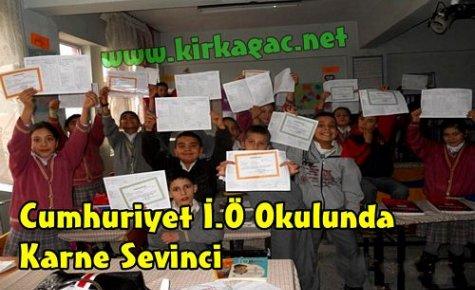 Cumhuriyet İ.Ö Okulunda Karne Heyecanı
