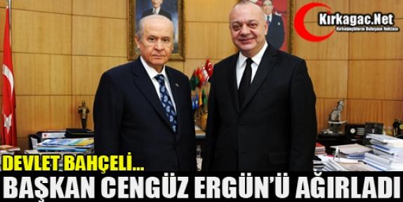 DEVLET BAHÇELİ BAŞKAN ERGÜN'Ü AĞIRLADI