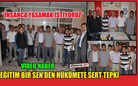 """EĞİTİM BİRSEN 'İNSANCA YAŞAMAK İSTİYORUZ""""(VİDEO)"""