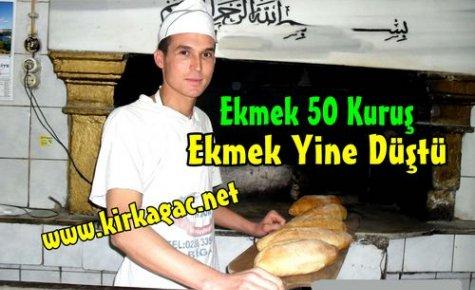 EKMEK,50 KURUŞA DÜŞTÜ