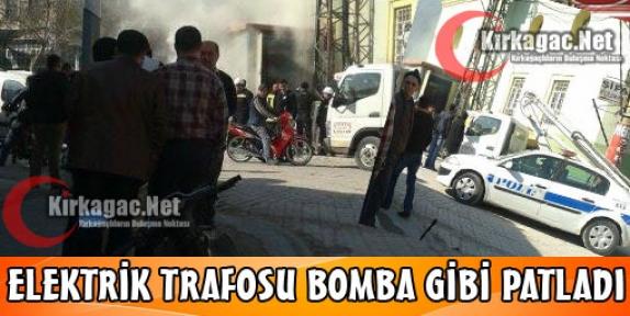 ELEKTRİK TRAFOSU BOMBA GİBİ PATLADI