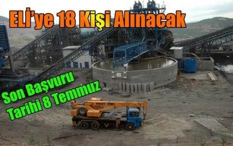 ELİ'YE 18 KİŞİ ALINACAK