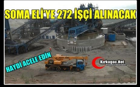 ELİ'YE 272 KİŞİ ALINACAK