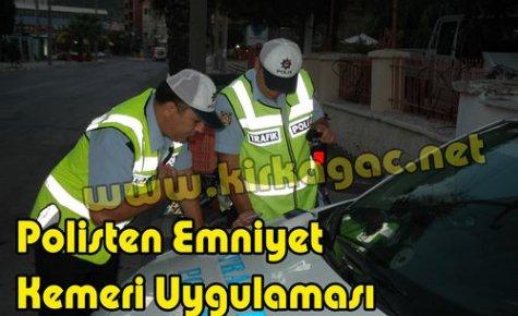 Emniyet Kemeri Takmayanlara,Polis Uyarısı