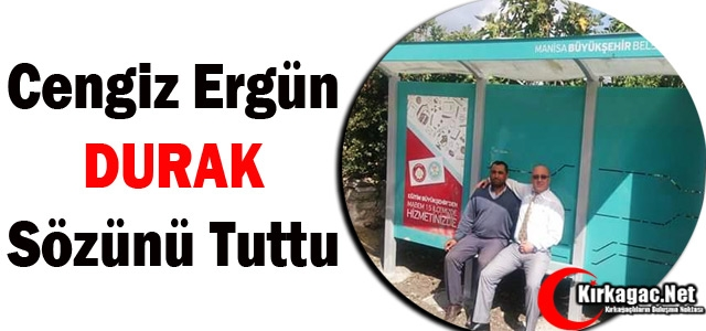 ERGÜN 'DURAK' SÖZÜNÜ TUTTU