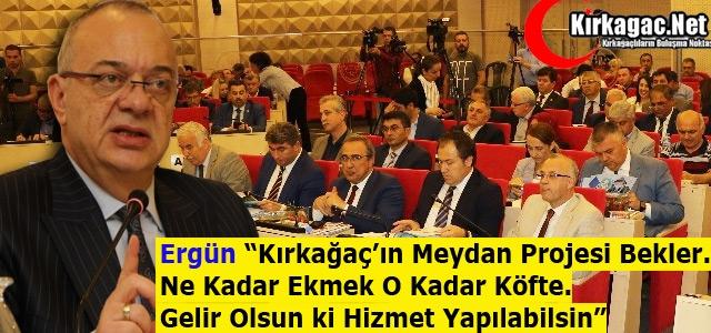 """ERGÜN 'KIRKAĞAÇ'IN MEYDAN PROJESİ BEKLER"""""""
