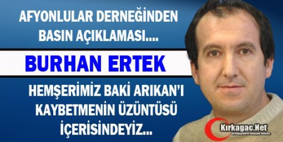 """ERTEK 'ARIKAN'I KAYBETMENİN ÜZÜNTÜSÜ İÇERİSİNDEYİZ"""""""
