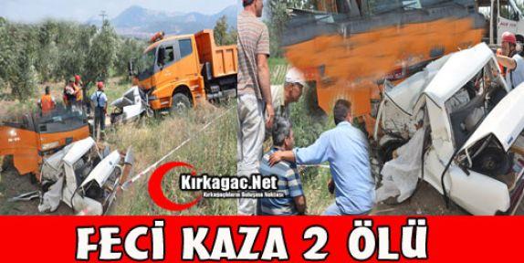 FECİ KAZA 2 ÖLÜ