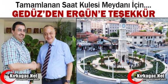 GEDÜZ'DEN CENGİZ ERGÜN'E TEŞEKKÜR