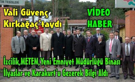 Güvenç,Kırkağaç'ta İncelemelerde Bulundu(VİDEO)