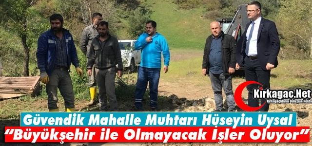GÜVENDİK MUHTARI UYSAL 'MASKİ İLE OLMAYACAK İŞLER OLUYOR'