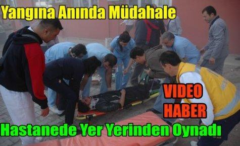 HASTANEDE YER YERİNDEN OYNADI(VİDEO)