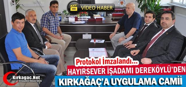 HAYIRSEVER DEREKÖYLÜ'DEN KIRKAĞAÇ'A UYGULAMA CAMİİ(VİDEO)