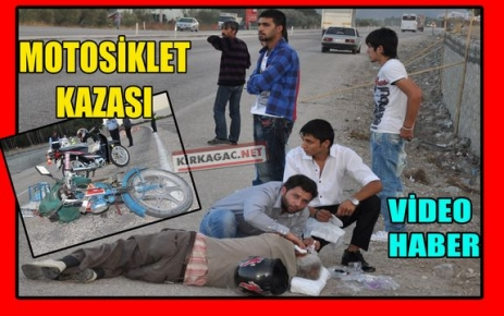 İLGİNÇ BİR MOTOSİKLET KAZASI(VİDEO)