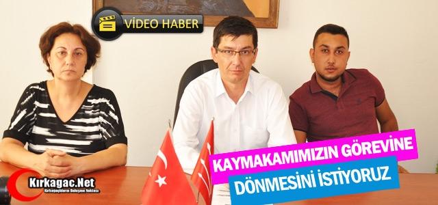 """İREN 'KAYMAKAMIMIZIN GÖREVİNE DÖNMESİNİ ARZU EDİYORUZ"""""""