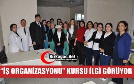 """'İŞ ORGANİZASYONU"""" KURSU İLGİ GÖRÜYOR"""