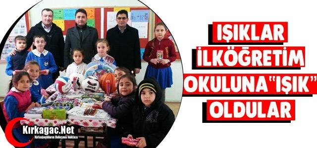 """IŞIKLAR İLKOKULU'NA 'IŞIK"""" OLDULAR"""