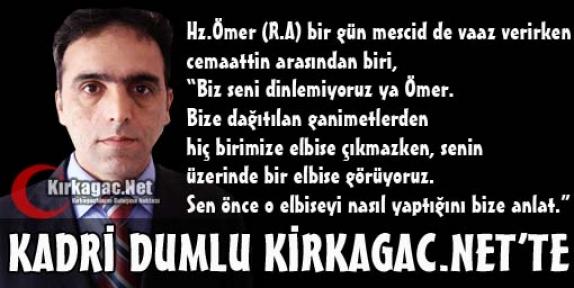 KADRİ DUMLU ARTIK KİRKAGAC.NET'TE