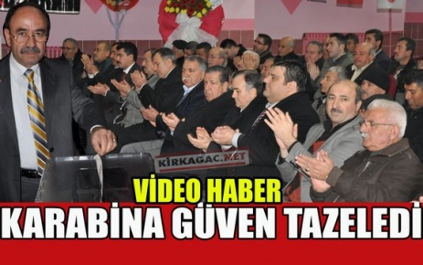 KARABİNA GÜVEN TAZELEDİ(VİDEO)