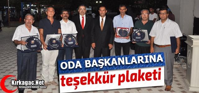 KAVUN FESTİVALİNE DESTEK OLAN 'ODA BAŞKANLARINA' PLAKET