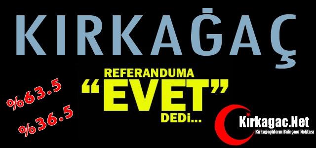 KIRKAĞAÇ 'EVET' DEDİ