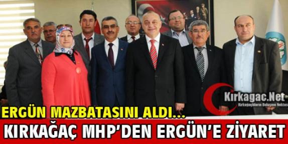 KIRKAĞAÇ MHP'DEN ERGÜN'E ZİYARET