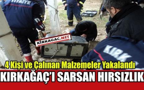 KIRKAĞAÇ'I SARSAN HIRSIZLIĞA POLİS DUR DEDİ