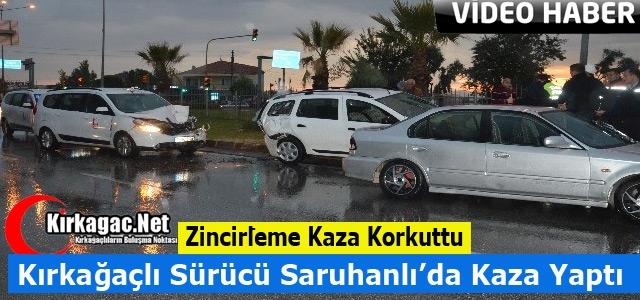 KIRKAĞAÇLI ESNAF SARUHANLI'DA KAZA YAPTI
