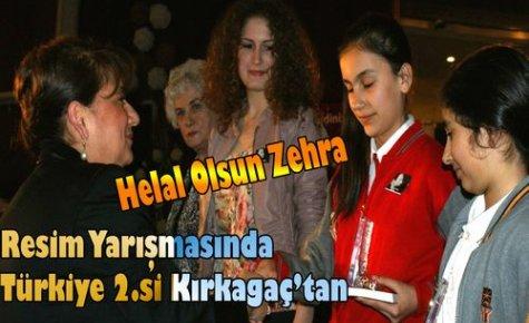 Kırkağaçlı Zehra Türkiye 2.si