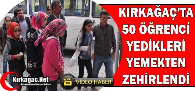 KIRKAĞAÇ'TA 50 ÖĞRENCİ YEDİĞİ YEMEKTEN ZEHİRLENDİ(VİDEO)