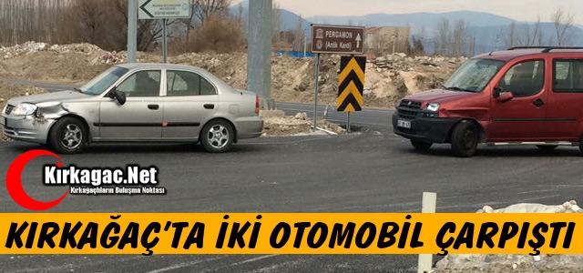KIRKAĞAÇ'TA İKİ OTOMOBİL ÇARPIŞTI