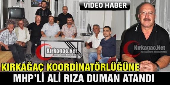KOORDİNATÖRLÜK GÖREVİNE MHP'Lİ ALİ RIZA DUMAN ATANDI(VİDEO)