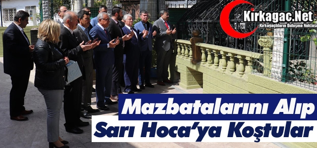 MAZBATALARINI ALIP SARI HOCA'YA KOŞTULAR