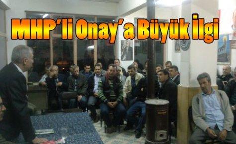 MHP'li Mansur Onay'a Büyük İlgi