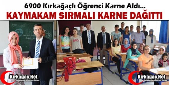 ÖĞRENCİLER KARNELERİNİ SIRMALI'NIN ELİNDEN ALDILAR