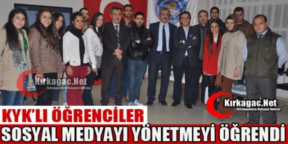 ÖĞRENCİLER 'SOSYAL MEDYAYI' YÖNETMEYİ ÖĞRENDİ