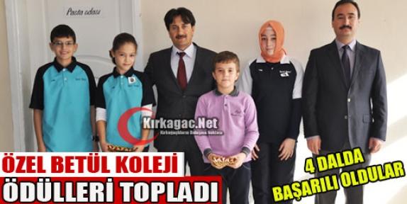 ÖZEL BETÜL KOLEJİ ÖDÜLLERİ TOPLADI