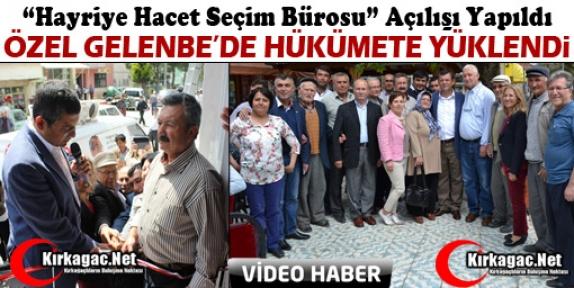 ÖZGÜR ÖZEL GELENBE'DE SEÇİM BÜROSU AÇTI(VİDEO)