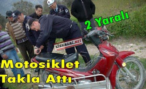 Özürlü Vatandaş Motosikletiyle Takla Attı 2 Yaralı