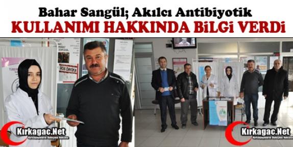 """SANGÜL 'AKILCI ANTİBİYOTİK KULLANIMI"""" HAKKINDA BİLGİ VERDİ"""