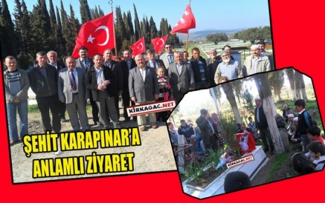 ŞEHİT KARAPINAR'A ANLAMLI ZİYARET