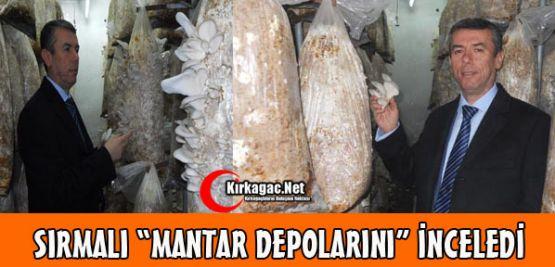 SIRMALI MANTAR DEPOLARINI İNCELEDİ