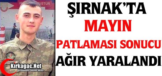 ŞIRNAK'TA MAYIN PATLAMASI SONUCU YARALANDI